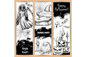 Halloween vertical posters