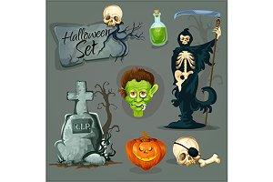 Eerie Halloween characters