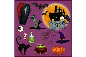 Halloween characters set