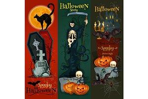Danger Halloween banners set