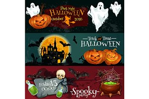 Halloween holiday banners