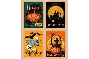 Halloween retro posters