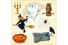 Funny creepy Halloween elements