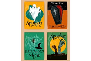 Halloween posters and banners
