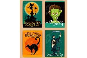 Retro Halloween posters