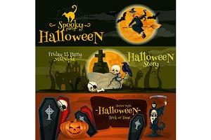 Halloween vector banners