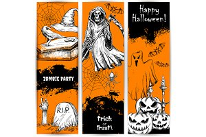 Halloween Party celebration banners