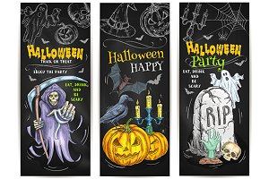 Halloween Trick or Treat banners