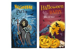 Halloween Party posters design
