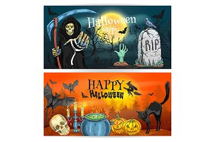 Happy Halloween decoration posters