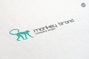 Monkey Brand Logo Template