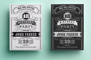 Vintage Birthday Invitation