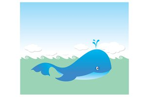 a big blue whale