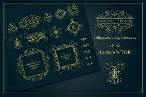 Vector vintage page decorations