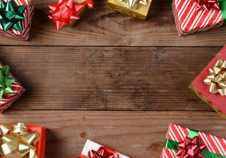 Rustic Wood Floor Christmas Presents ~ Holiday Photos ...