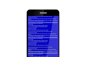 Smartphone with BSOD error