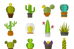Vector nature cartoon cactus