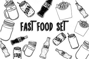 Fast food vector set