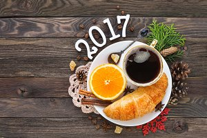 New Year 2017 continental breakfast