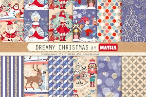 DREAMY CHRISTMAS digital papers