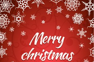 Merry christmas background card