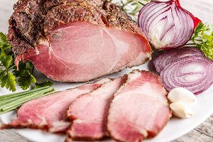 Pork loin slices