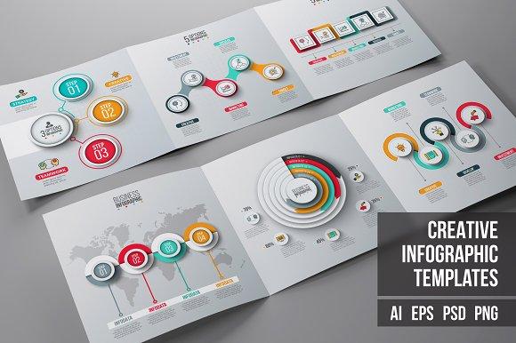 Business infographic diagrams v.12 - Presentations