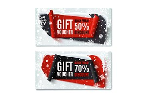 Two Black Friday gift vouchers.