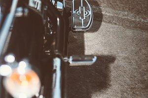 Motorbike throttle pedal