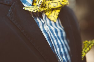 Man in yellow bow tie