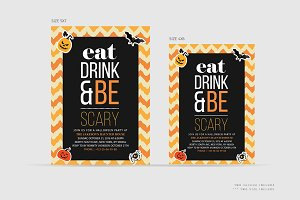 Be Scary Halloween Invitation Card