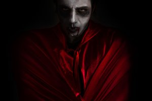 Man dressed as a vampire