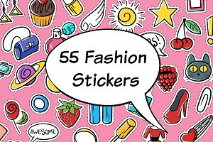 55 Fashion stickers