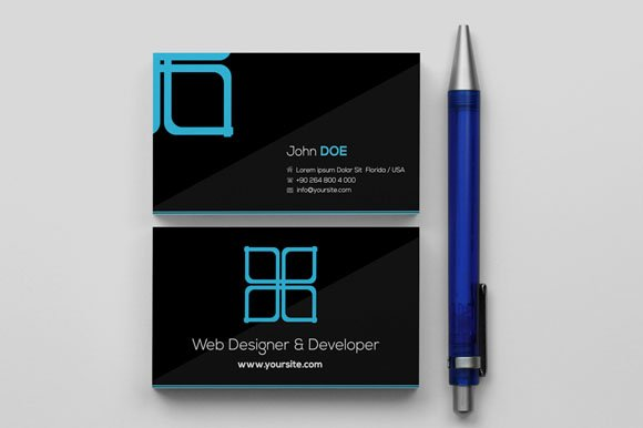 Window Black Business Card Templates Creative Market