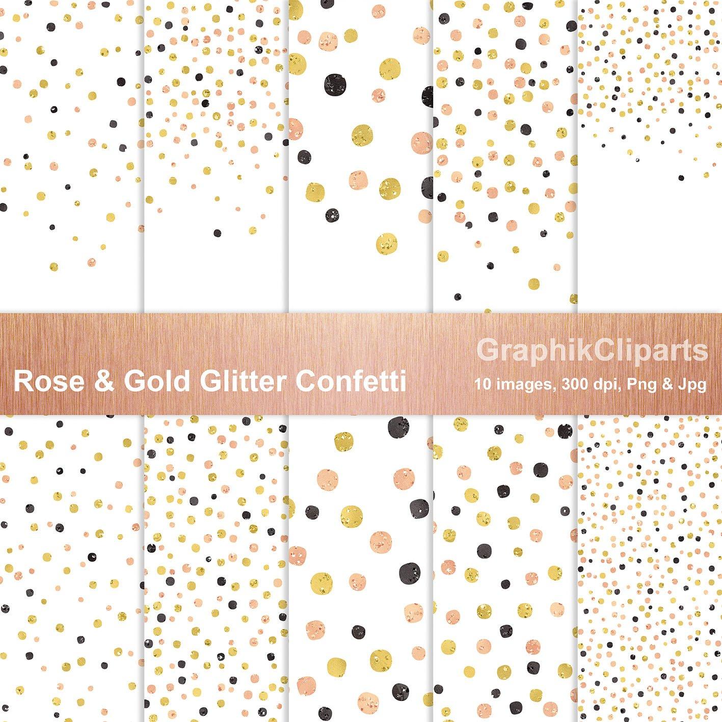 Rose Gold Glitter Confetti Png Jpg Graphic Patterns Creative Market