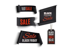 Set of Black Friday banners.