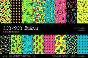 80's/90's Digital Papers