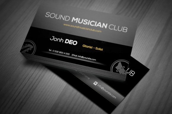 Smc a musician business card business card templates creative market colourmoves