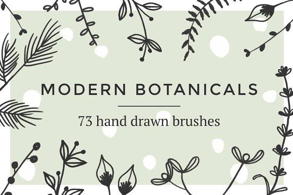 Modern botanical Photoshop brushes