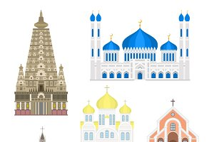 Famous buildings vector architecture