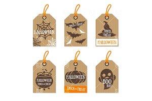 Halloween tags cardboard