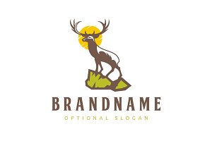 Stag on Cliff Logo