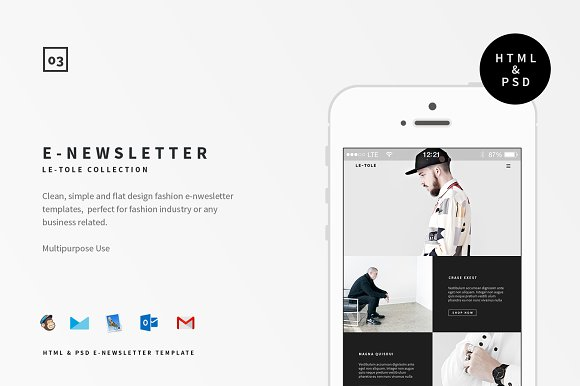 Le Tole E Newsletter Email Templates Creative Market