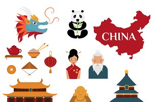 Chinese traditional culture vector