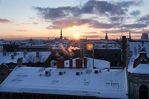Winter. Riga, Latvia