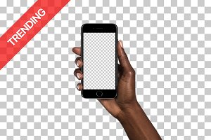 20x iPhone 7 mockups (Diverse Hands)