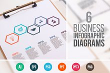 Business infographic diagrams v.13