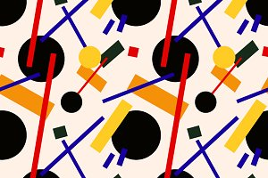 Abstract suprematism composition
