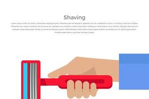 Shaving Concept Banner
