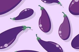 Eggplant Seamless Pattern